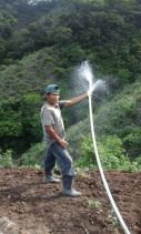 primer prueba de descargue de agua